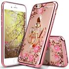 For iPhone 6 PLUS/ 6s PLUS Case Floral Luxury Cover Bling Diamond Bumper Ring