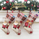 Personalised Kids Luxury Embroidered Xmas Stocking Sack Santa Christmas 2018 New