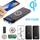 10000mAh Qi LED Power Bank Case Only Wireless Portable Battery...