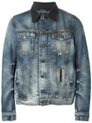 DIESEL Faded Jean/Denim Jacket with Leather Collar - LAST ONE...! - WAS £290.00