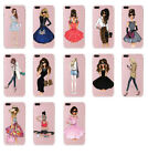 For iphone 7 plus case Silicon / tpu case cover Stylish Girl