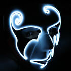 Halloween Sound Reactive Full Face LED Light Up Mask Dance Rave EDM Plur Party