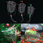 Useful Stainless Steel Wire Fishing Lure Bait Cage Feeder Trap Fishing Supplies