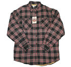 Mens Vintage Style Ex Wrangler Flannel Checked Long Sleeve Sherpa Shirt
