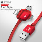 3 in 1 Type-C Micro USB 3.1 Fast USB Charging Cord Cable Line for iPhone XS XR