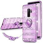 For Samsung Galaxy S9+ PLUS Case Bling Diamond Bumper Heavy Duty Ring Purple