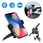 Qi Wireless Fast Charger Charging Car CD Slot Mount Cell Phone Holder Stand Dock