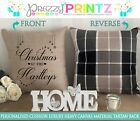 PERSONALISED CUSHION TARTAN CHRISTMAS AT MR&MRS WEDDING ANNIVERSARY GIFT COUPLE