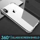 Shockproof 360° Silicone Protective Clear Case Cover For Iphone