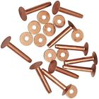 "20 Piece Solid Copper Rivets W/Burrs 5/8""-3/4""-1"" and 1-1/4"" #10 Saddle tack"