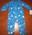 NEW CARTERS BABY BLUE WITH SNOWMEN MICRO SNAP SLEEPER 6M 9M