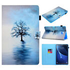 Pattern Leather Flip Magentic Stand Case Cover For Samsung Galaxy Tab T580 T585