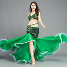 New Sexy Belly Dance Costume Peacock Fishtail Outfit 2PCS of Bra