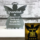 Christmas Angel Memorial LED Candle Holder Gift Family Plaque Ornament