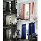 Catherine Lansfield Glitzy Sequin Embellished Faux Silk Eyelet Curtains