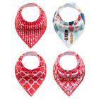 4Pcs Infant Baby Boy Girl Bibs Feeding Saliva Towel Dribble Triangle Bandana USA