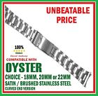 CHOOSE 18mm 20mm 22mm OYSTER STYLE LINK WATCH BRACELET CURVED ENDS. GOOD QUALITY image