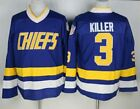 #3 Killer Charlestown Chiefs Jersey Hanson Brothers Ice Hockey Jerseys Stitched
