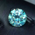 1 CT to 5 CT Blue Color Round Diamond Cut Real Moissanite VVS, For Ring/Pendant