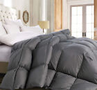 Deluxe 1200 TC Gray Down Alternative Comforter 100 Cotton, Down-like properties