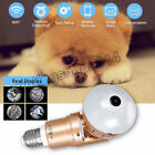 360° Panoramic Hidden Wifi Camera Light Bulb HD 1080P Security IP Fisheye Camera