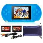 HANDHELD PORTABLE PVP 3000 GAMES CONSOLE RETRO MEGADRIVE DS VIDEO GAME <br/> UK STOCK *2 FREE CARTRIDGE *FREE POUCH *16 BIT