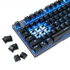104 Keys Wireless Mechanical Keyboard RGB Backlit Black/Blue Switch for PC Gamer
