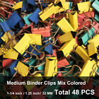 Medium Binder Clips Mix Colored 1.25 inch Little bit Scratch Paper Clips 24-48