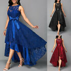 Womens Sexy Irregular Long Floral Lace Midi Dress Evening Party Formal Ball Gown $29.58 USD on eBay
