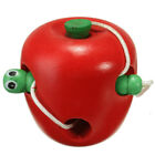 Kids Early Educational Lacing Threading Fruits Caterpillar Eats Fruit Wooden Toy