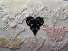 Cream/Ivory or White Embroidered Vienese Lace Insert Applique choose colour