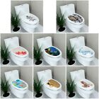 Stereo Toilet Seat Wall Sticker Bathroom Decoration Decal Pvc Mural Decor Flower