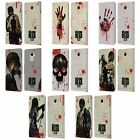 AMC THE WALKING DEAD SILHOUETTES LEATHER BOOK CASE FOR WILEYFOX & ESSENTIAL