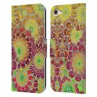 MICKLYN LE FEUVRE FLORALS 2 LEATHER BOOK WALLET CASE FOR APPLE iPOD TOUCH MP3