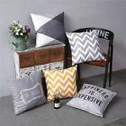 Simple Romantic Grey Geometric Colorful Stripe Sofa Cushion Cover Pillow Case image