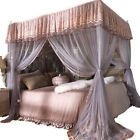 Princess 4 Corner Post Bed Curtain Canopy Mosquito Net Or Bed Canopy Frame image