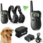 1/2 Dogs Shock Training Collar Rechargeable LCD Remote Control Electric Trainer