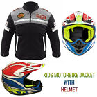 Kids motorbike motorcycle motocross helmet jacket Coat children's clothing youth