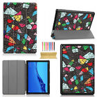 "For Huawei MediaPad M5 8.4"" 10.8"" Lite 10.0"" Tri-fold Leather Stand Case Cover"