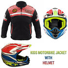 Junior Child Children Kids Motorcycle Motorbike Helmet Jacket Motocross MX ATV