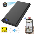 10000mAh Power Bank 4K WIFI 1080P HD Spy Hidden IP Camera Video Recorder Cam DVR