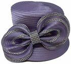 Church DURBY Dress HAT SINGLE BOW WITH RHINESONE фото