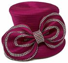 Church DURBY Dress HAT SINGLE BOW WITH RHINESONE
