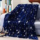 Micro Plush Fleece Flannel Blanket Super Soft Warm Solid Throw Rug Sofa Bedding image