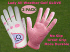 Women's Golf Gloves 1 Pair All Weather Grip S M L XL Left Hand Right Lh Rh Lady