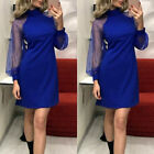 Women Lace Dress Evening Party Ball Prom Gown Formal Cocktail Wedding Mini Dress