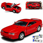 Ford Mustang IV SVT Cobra Coupe Rot 1994-1998 1/24 Motormax Modell Auto mit od..