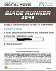 Brand new Unused HD and 4K Digital Copy Movie Codes <br/> Code will be emailed within 24 hours
