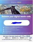 Brand new Unused HD and 4K Digital Copy Movie Codes