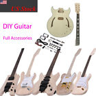 Basswood Body Electric Guitar DIY Kit Build Your Own Set ST TL Style Option D7I5